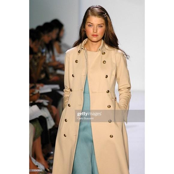 CHAIKEN Jackets & Blazers - Chaiken Runway Khaki Long Tailored Trench Coat